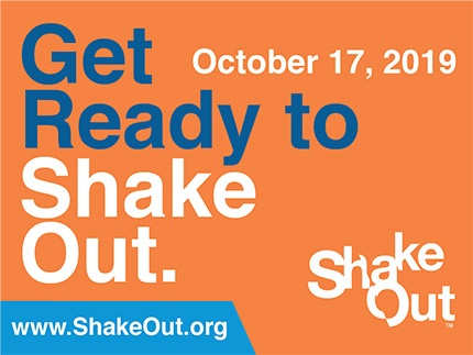 poster for oct. 17 great washington shakeout event