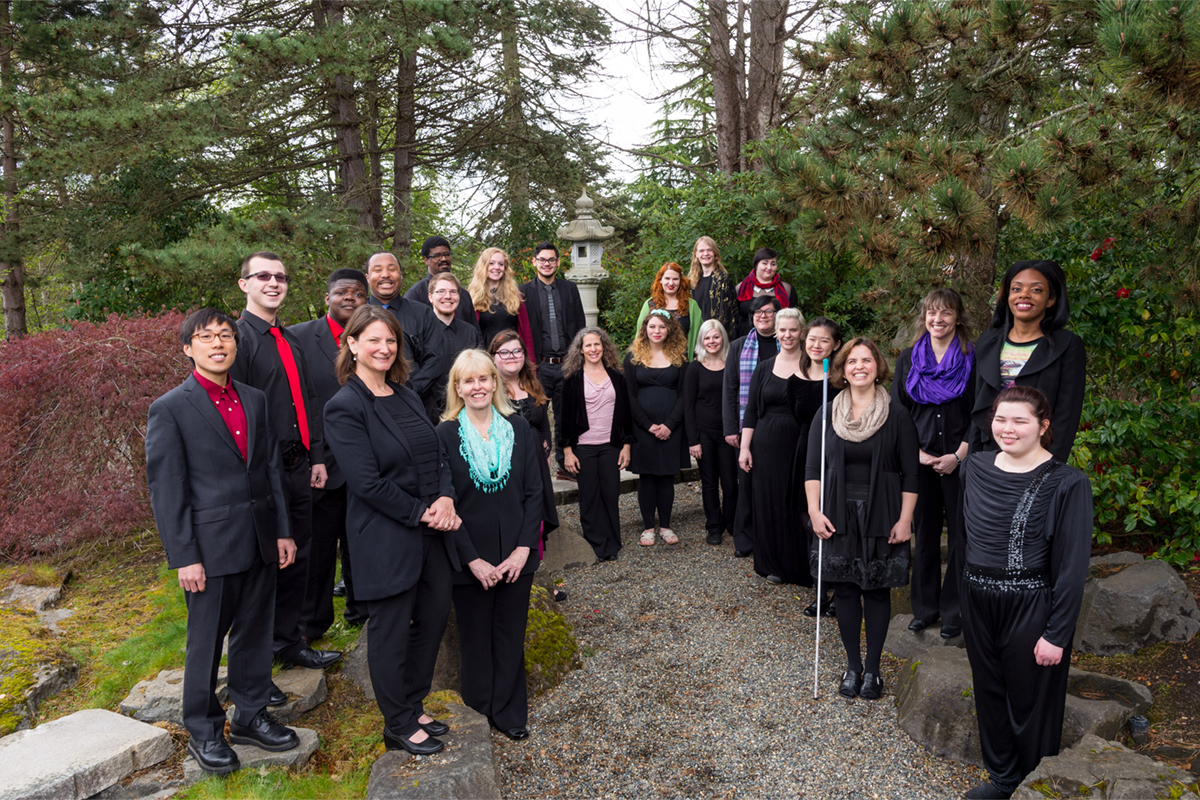 TCC Choir group photo in the Japanese Garden